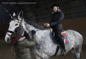 Click on the photo to learn about active vs passive resistance on the reins, it was seriously helpful!